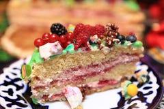 Piece of cake for birthday Stock Photos