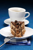 Piece of cake and coffee Stock Images