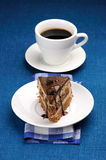 Piece of cake and coffee Royalty Free Stock Photography