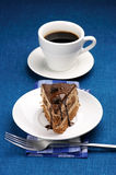 Piece of cake and coffee Stock Image