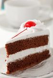 Piece of cake and coffee cup Royalty Free Stock Images