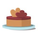 Piece of cake. flat vector Stock Photos