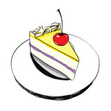 Piece of cake  - hand drawn Stock Images