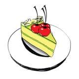 Piece of cake  - hand drawn Stock Photo