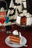 A piece of cake in honor of Halloween Stock Photo