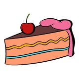 Piece of cake icon cartoon Royalty Free Stock Photography