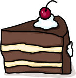 Cake illustration; Piece of cake drawing Stock Images
