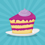 Piece of cake,  illustration. Icon Royalty Free Stock Photography