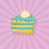 Piece of cake,  illustration. Icon Stock Images