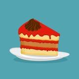 Piece of cake,  illustration. Icon Royalty Free Stock Photos