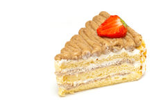 Piece of cake isolated Stock Images