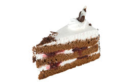 Piece of cake isolated on white Royalty Free Stock Images