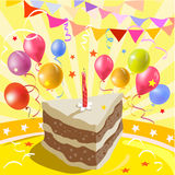 Piece of cake and a party atmosphere Royalty Free Stock Images