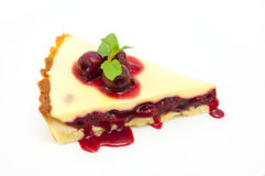 Piece of cake with passion fruit Stock Image