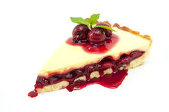 Piece of cake with passion fruit Stock Images