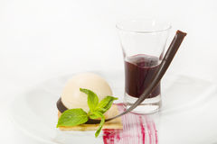 Piece of cake with passion fruit Stock Photography