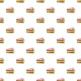 Piece of cake pattern, cartoon style. Piece of cake pattern. Cartoon illustration of piece of cake vector pattern for web Stock Photo