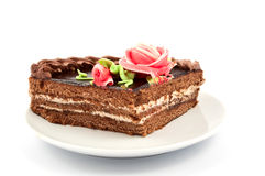 Piece of cake on a plate Royalty Free Stock Photography
