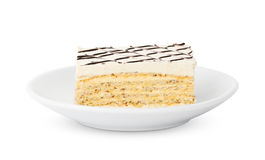 Piece of cake on a plate Stock Image