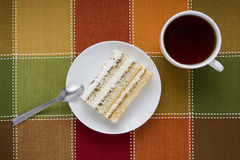 Piece of cake on a plate Royalty Free Stock Photo
