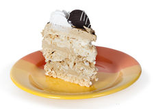 Piece of cake on plate Royalty Free Stock Photography