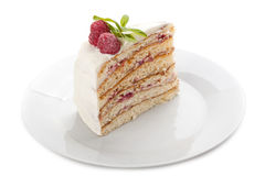 Piece of cake on a plate. Stock Photography