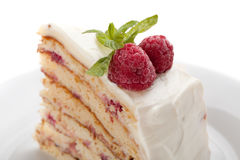 Piece of cake on a plate. Royalty Free Stock Photo