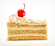 Piece of cake, vector icon Royalty Free Stock Image