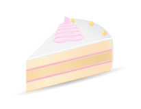 Piece of cake vector illustration Stock Photo