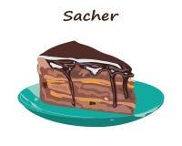 Piece of cake.  Vector. Sacher. vector illustration