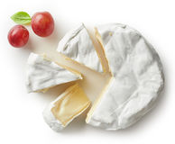 Piece of camembert cheese Royalty Free Stock Image