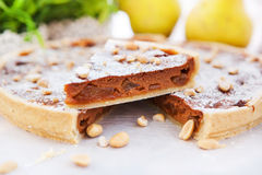 A piece of caramel apple tart Stock Images