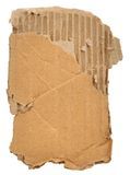 Piece of cardboard Royalty Free Stock Photos