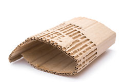Piece of cardboard corrugated Stock Photos