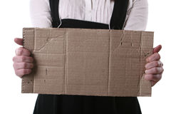 The piece of cardboard with empty place Stock Images