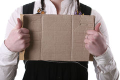 The piece of cardboard with empty place Royalty Free Stock Photography