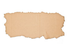 Piece of cardboard on white background Stock Photos