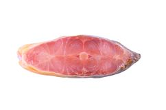 Piece of carp with lemon isolated Stock Photography