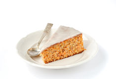 A Piece of Carrot and Almond Cake Royalty Free Stock Photos
