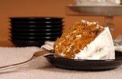 Piece of carrot cake Stock Photos