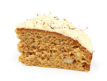Piece of carrot cake Stock Image