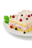 Piece of celebratory cake Royalty Free Stock Photo