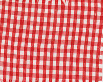 Red and White Checked Textile Royalty Free Stock Images