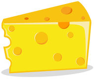 Piece of cheese royalty free illustration