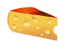 Piece of cheese Royalty Free Stock Images
