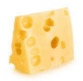 Piece of cheese with big holes Royalty Free Stock Image