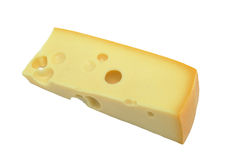 Piece of cheese, isolated stock photography
