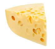 Piece of cheese isolated Royalty Free Stock Photos