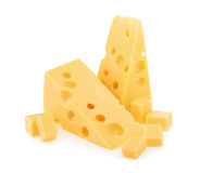 Piece of cheese isolated. all images of this series see my portf Stock Images