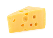 Piece of cheese isolated. all images of this series see my portf Royalty Free Stock Photo
